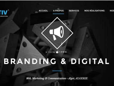 Web site for communication agency