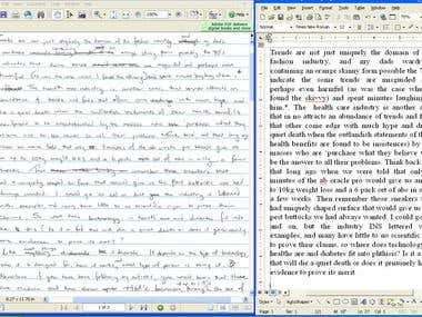 I will convert your PDF or scanned handwritten copy to word