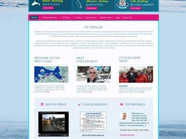 Whale watching website