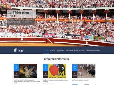 Site institution et Actualités
