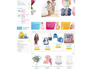 Baby Product Ecommerce Website