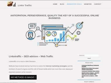 Site informations sous Wordpress