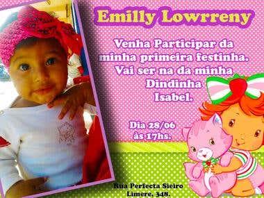 CONVITE - Aniversário Emilly