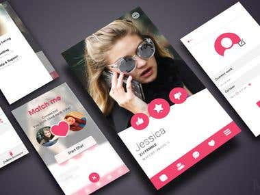MatchMe- Tinder Clone Design & Development