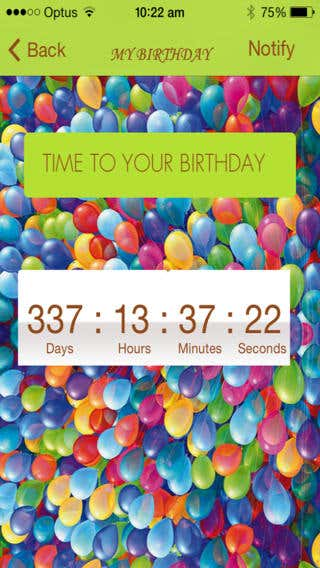 Birth Day Countdown