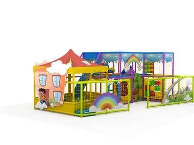 Playground for children in 3D