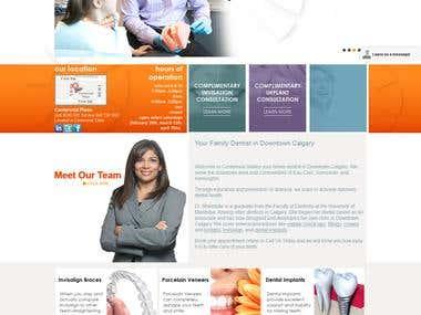 Centennial Smiles Dental - Wordpress Dental website.