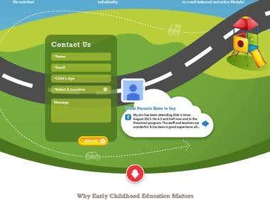 Kidsu - Childrens Brain Development wordpress website