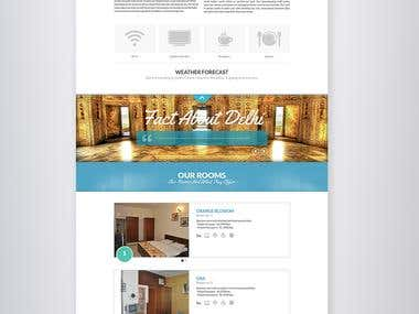 One Page Design for website