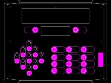 Skittle (Bowling similar game) control panel
