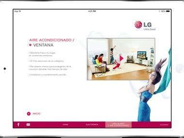LG electronics iPad app