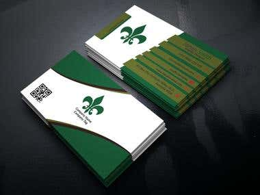 I can create nice and  modern business card .