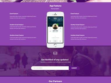 Landing Page for a mobile app