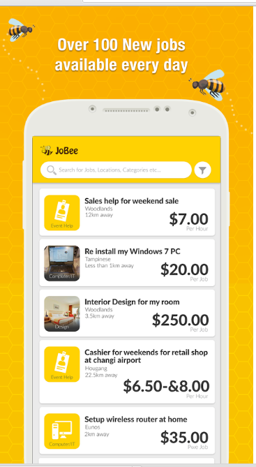 JoBee - Jobs in Singapore!
