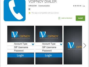 voipnoy SIP Mobile Dialer Application for android and iPhone