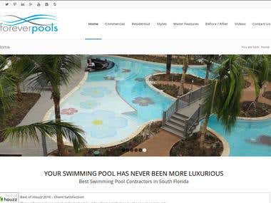 SEO Work for foreverpools.com/