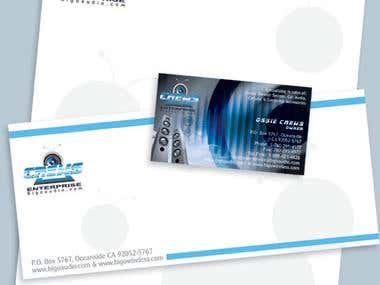 Corporate Identity -Business card, letterhead Envelope
