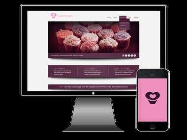Website and Identity for Cupcake Bakery