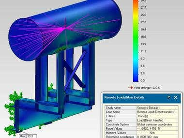 Solidworks Simulation of Oil Conservator