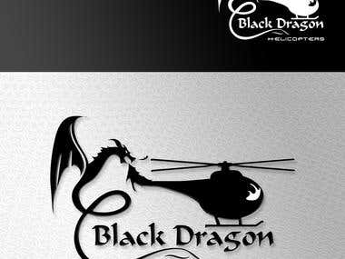 Logo for Black dragon helicopters