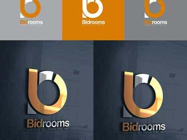 Bidroom Logo Design