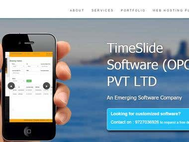 TimeSlide Software - Website Design