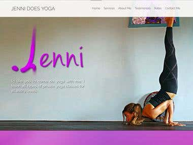 Logo and Website Design for JenniDoesYoga.com