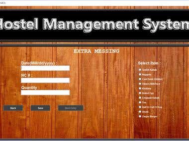 Hostel Management System in Java