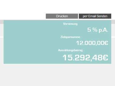 Loan Calculator for German Loan Company