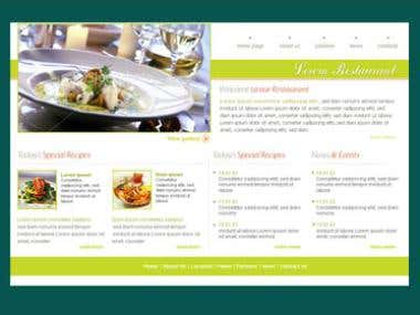 restrurant site web design