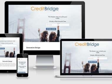 Credit Bridge web template