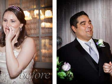 Wedding photo/photograh retouching/ color correction