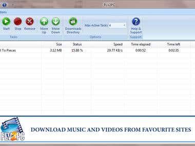 FLV2PC - Tube video downloader