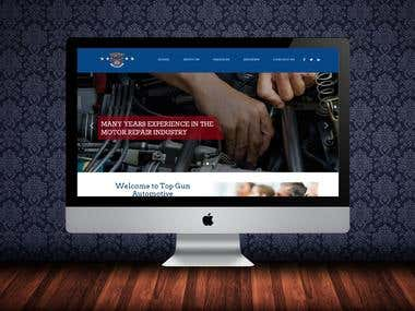 Top Gun Auto Repair Website (Static)
