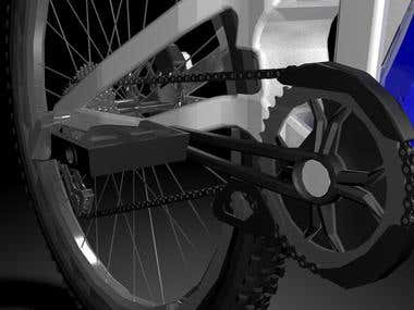 3D Part Render of Bike Parts