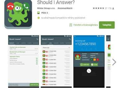 Should I Answer Android App & Web translataion
