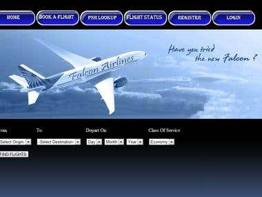 Falcon Airlines : Online Airline Reservation System