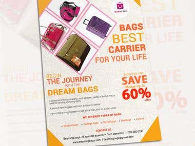 Brochure for journey bags