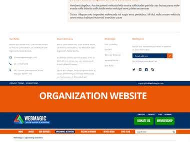 Web design for social activities and services