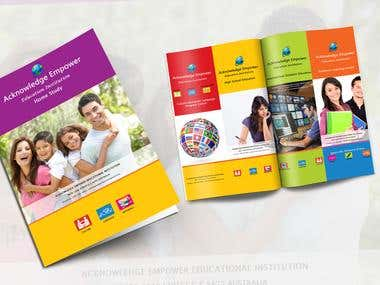 Brochure for educational institute