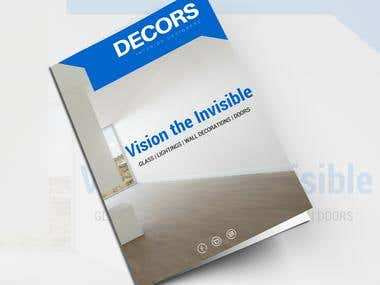 Brochure for home interior decoration company