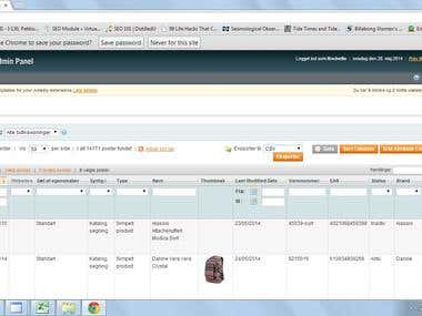 Adding from products to Magento