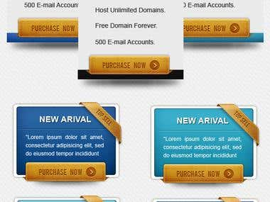 Premium Pricing table for website