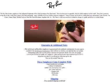 eBay Listing - Raybans