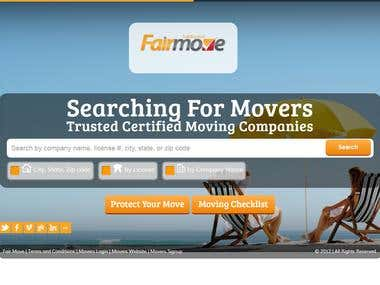 Packers and Movers based web site in CodeIgniter