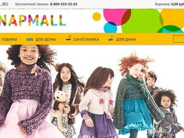Snapmall eCommerce site