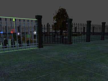 Graveyard Themed Scene