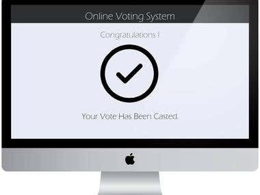PSD to Web for Online Voting System