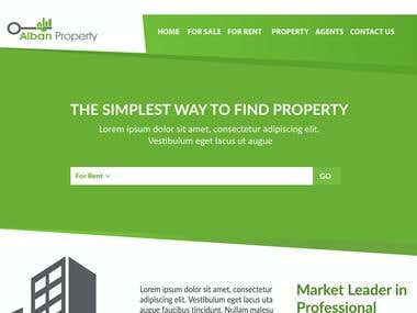Home page design PSD for a real estate company