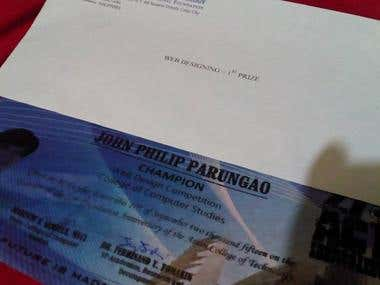 Certificate of Recognition - Web Designing Champion